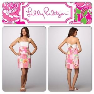 Lilly Pulitzer Franco Strapless Patchwork Dress
